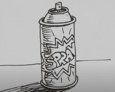 How to Draw a Spray Can Step by Step