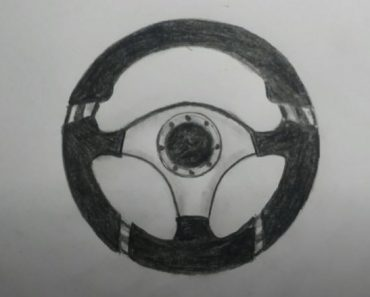 How to Draw a Steering Wheel Easy