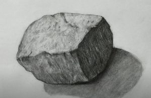 How to Draw a Stone with Pencil Step by Step