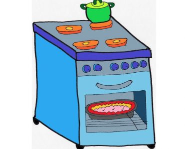 How to Draw a Stove Step by Step