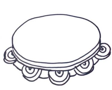How to Draw a Tambourine Easy