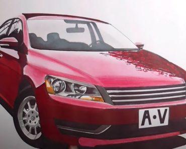 How to Draw a Volkswagen Passat CC