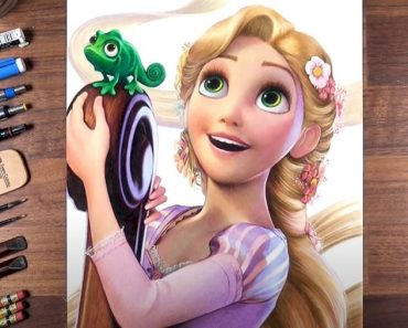 How to draw Rapunzel with Pencil