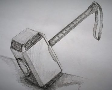 How to draw Thor Hammer