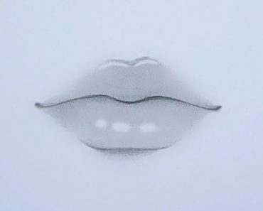 Realistic Lips Drawing with Pencil Easy Step by Step