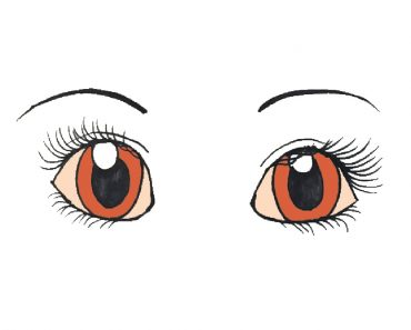 how to draw cute human eyes