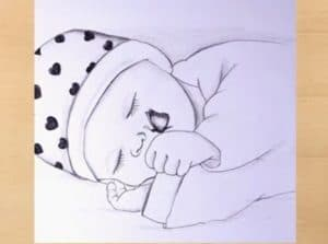 Cute Baby Drawing - Pencil Drawing Tutorials