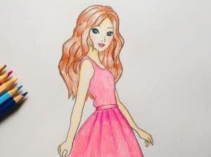 How to Draw Barbie Easy with Pencil