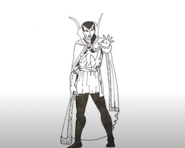 How to Draw Doctor Strange full body