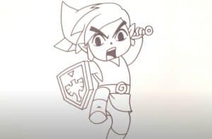 How to Draw Link from Legend of Zelda Step by Step