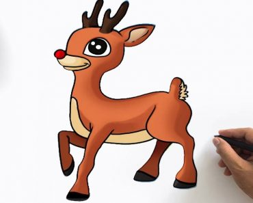 How to Draw Rudolph the Red Nosed Reindeer