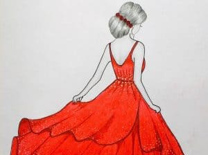How to Draw a Barbie GIRL with Beautiful DRESS