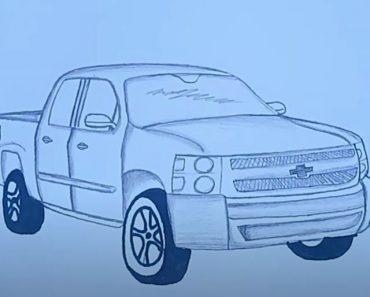 How to Draw a Chevy Silverado