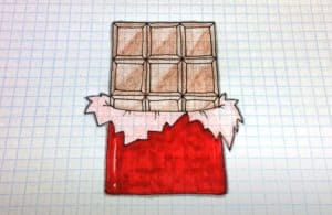 How to Draw a Chocolate Bar Step by Step