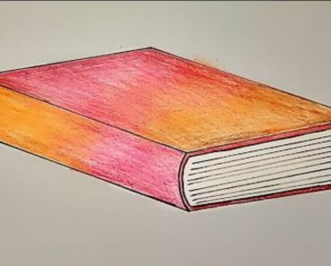 How to Draw a Closed Book Step by Step