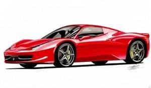 How to Draw a Ferrari 458 Italia Step by Step