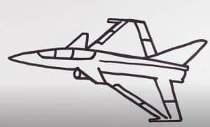 How to Draw a Fighter Jet Step by Step
