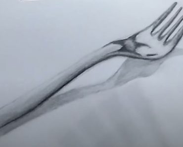 How to Draw a Fork with Pencil