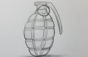 How to Draw a Grenade Step by Step