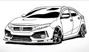 How to Draw a Honda Civic Step by Step