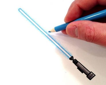 How to Draw a Lightsaber Step by Step