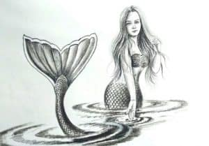 How to Draw a Mermaid with Pencil