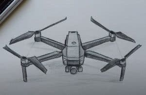 How to Draw a Quadcopter Step by Step