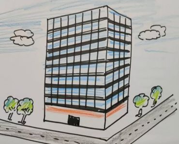 How to Draw a Skyscraper Step by Step