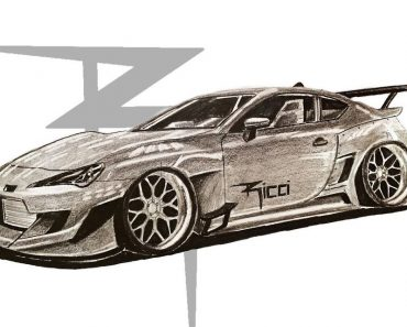 How to Draw a Subaru BRZ Step by Step - Car Drawing Easy