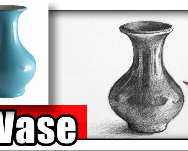 How to Draw a Vase with Pencil