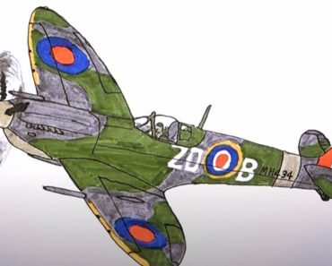 How to Draw a WW2 Fighter Plane Step by Step