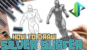 How to Draw the Silver Surfer Step by Step
