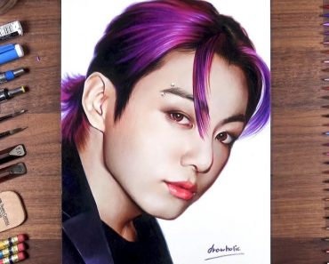 How to draw Jungkook from BTS