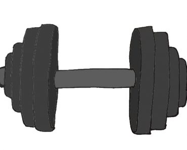 How to draw a dumbbell