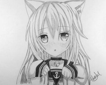 How to draw anime Neko Step by Step