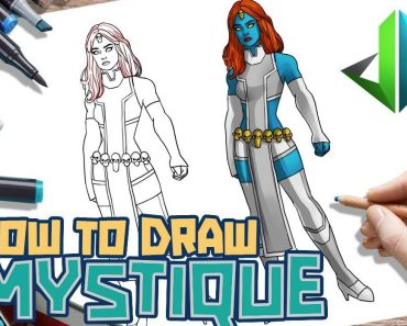 How to draw mystique