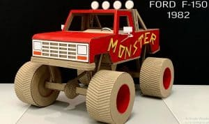 Make Monster Truck Ford F-150 from Cardboard