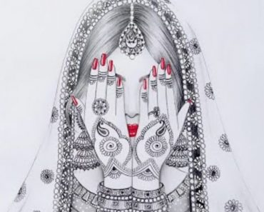 how to draw indian bride