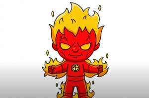 How To Draw Human Torch