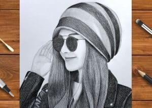 How to draw a Beautiful Girl with Cap