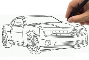 How to draw a Camaro Step by Step