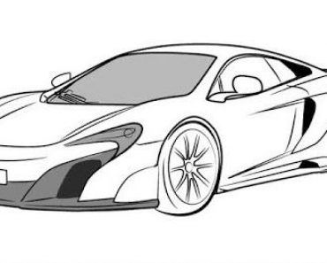 How to draw a mclaren p1