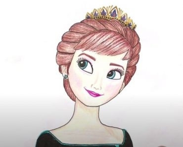 How to draw queen Anna Step by Step