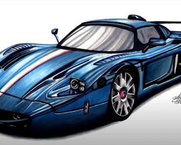 Super car Drawing by Pencil
