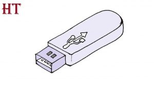 How to draw a Flash Drive