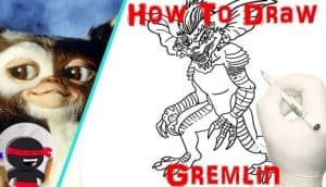 how to draw a gremlin
