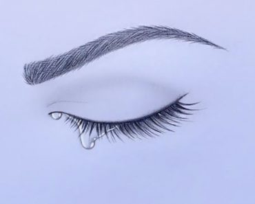 how to draw crying eye