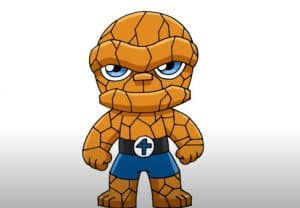 How to Draw the Thing from Fantastic 4