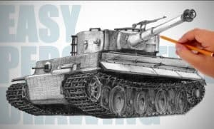 How to draw a tiger tank