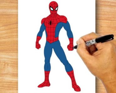 spider man drawing easy